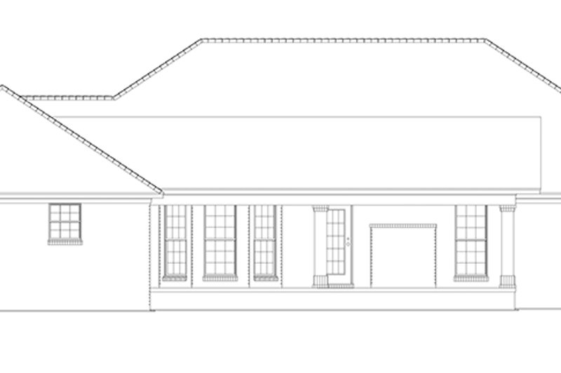 Ranch Exterior - Rear Elevation Plan #17-2781 - Houseplans.com