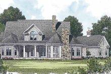 Craftsman Exterior - Rear Elevation Plan #453-428