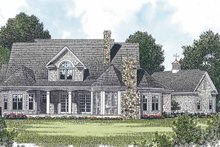 Craftsman Exterior - Rear Elevation Plan #453-428