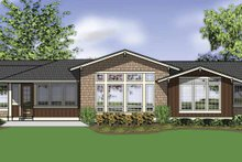 Home Plan - Traditional Exterior - Rear Elevation Plan #48-861