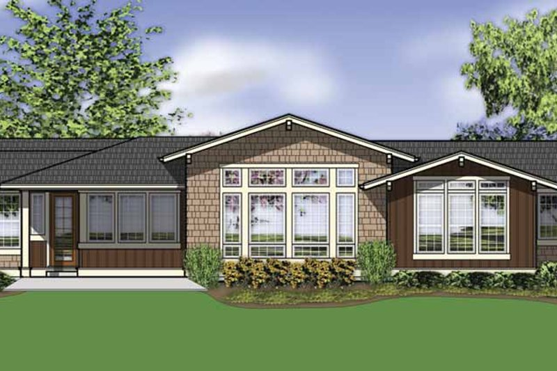 Traditional Exterior - Rear Elevation Plan #48-861 - Houseplans.com