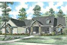 Architectural House Design - Craftsman Exterior - Front Elevation Plan #17-2771