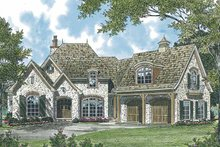 European Exterior - Front Elevation Plan #453-543