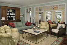 Architectural House Design - Country Interior - Family Room Plan #928-98