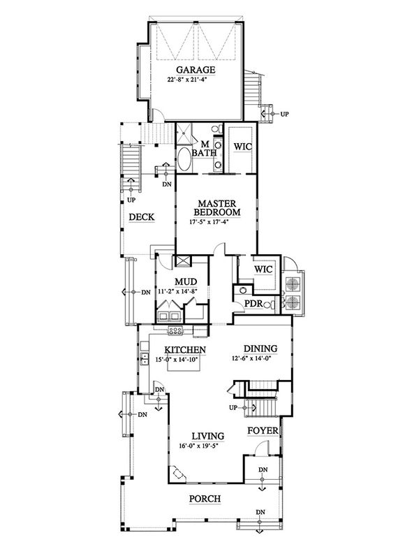 Beach Style House Plan - 4 Beds 3.5 Baths 3121 Sq/Ft Plan #464-15 Floor Plan - Main Floor Plan