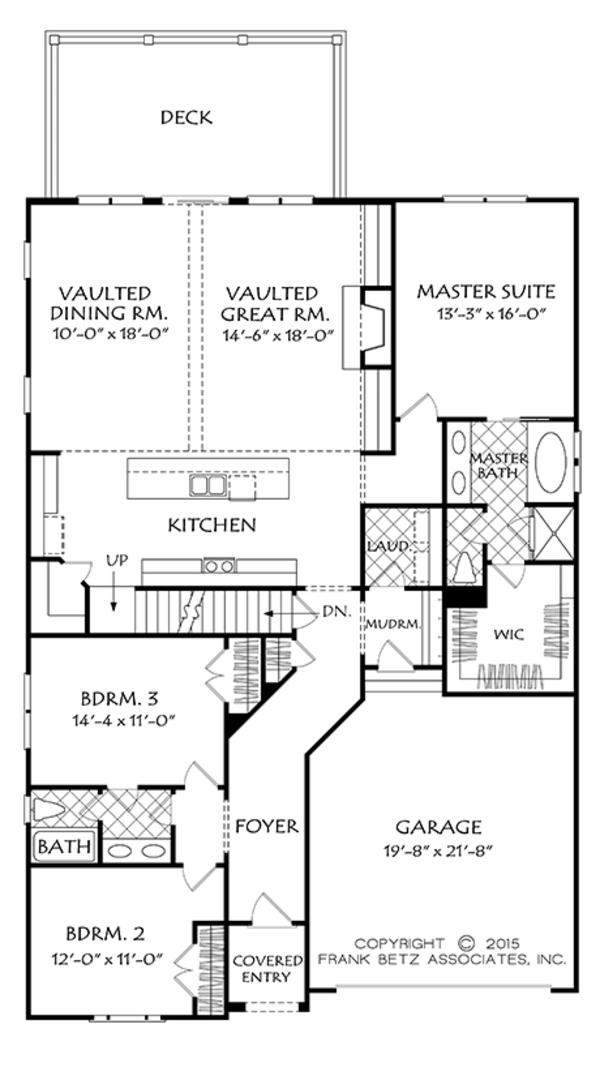 Colonial Floor Plan - Main Floor Plan Plan #927-970