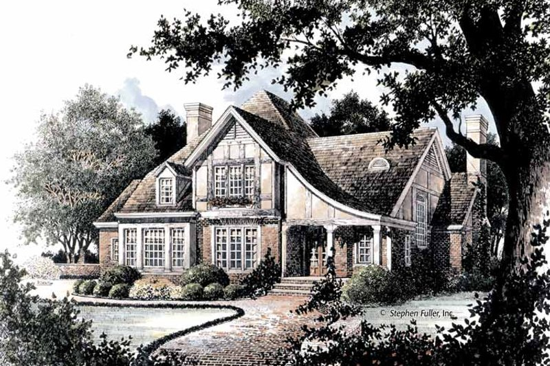 House Plan Design - Tudor Exterior - Front Elevation Plan #429-364