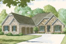 Country Exterior - Front Elevation Plan #17-3374