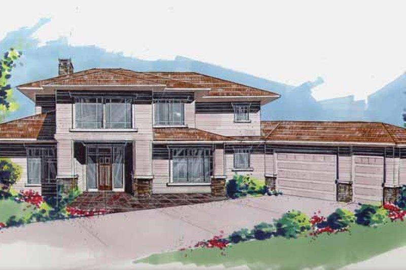 Prairie Exterior - Front Elevation Plan #509-416 - Houseplans.com