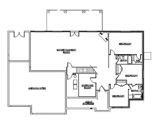 European Floor Plan - Lower Floor Plan Plan #945-129