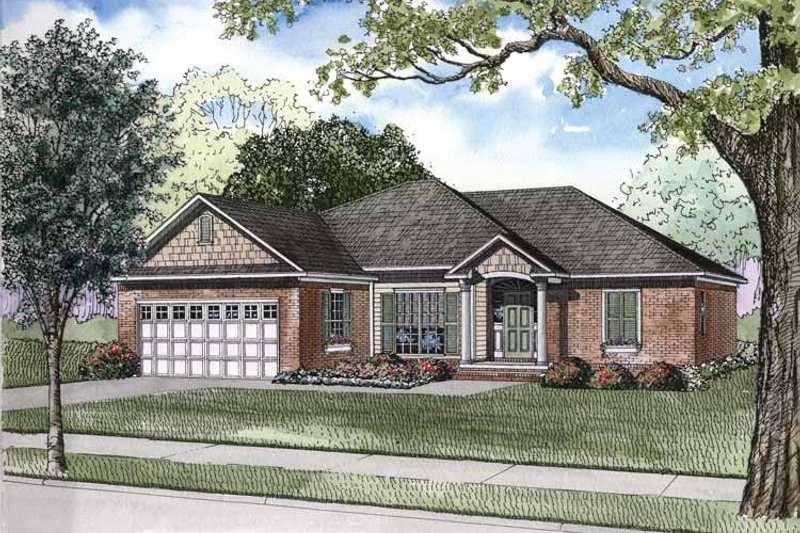 House Plan Design - Traditional Exterior - Front Elevation Plan #17-2894