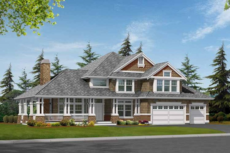 Craftsman Exterior - Front Elevation Plan #132-464