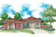 Mediterranean Style House Plan - 3 Beds 3.5 Baths 3184 Sq/Ft Plan #930-340 Exterior - Front Elevation