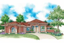 Home Plan - Mediterranean Exterior - Front Elevation Plan #930-340