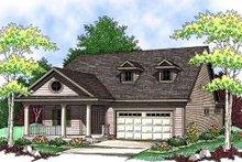 Dream House Plan - Farmhouse Exterior - Front Elevation Plan #70-897
