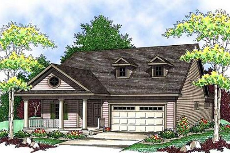 Dream House Plan - Farmhouse Exterior - Front Elevation Plan #70-897