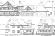 Victorian Style House Plan - 4 Beds 2.5 Baths 2632 Sq/Ft Plan #47-302 Exterior - Rear Elevation