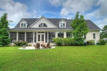 Home Plan - Rear view - 2600 square foot Southern home