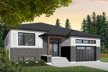 Modern Exterior - Front Elevation Plan #23-2698