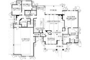 Country Style House Plan - 5 Beds 3 Baths 3237 Sq/Ft Plan #80-190 Floor Plan - Main Floor
