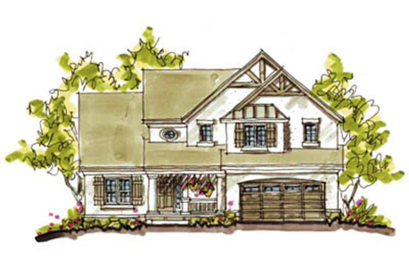 Craftsman Exterior - Front Elevation Plan #20-2040