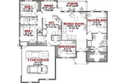 Ranch Style House Plan - 4 Beds 2.5 Baths 1846 Sq/Ft Plan #63-169 Floor Plan - Main Floor Plan