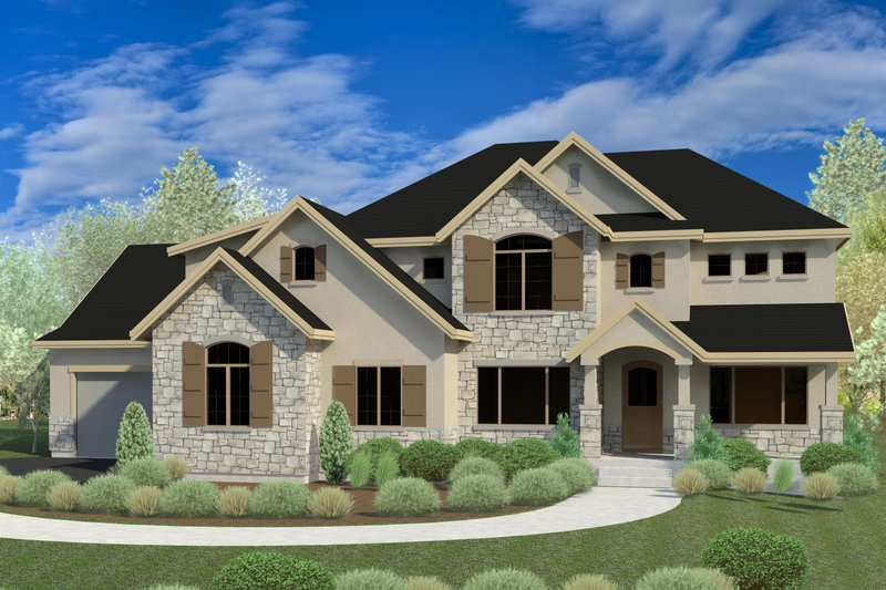 Dream House Plan - Traditional Exterior - Front Elevation Plan #920-76