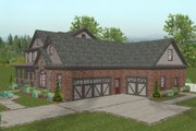 Craftsman Style House Plan - 4 Beds 4.5 Baths 2697 Sq/Ft Plan #56-586 Exterior - Other Elevation