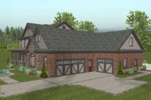 Dream House Plan - Craftsman Exterior - Other Elevation Plan #56-586
