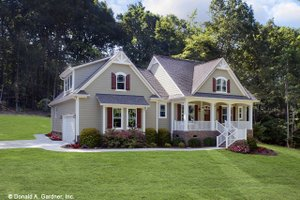 Farmhouse Exterior - Front Elevation Plan #929-1044