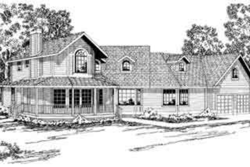 Traditional Exterior - Front Elevation Plan #124-160 - Houseplans.com