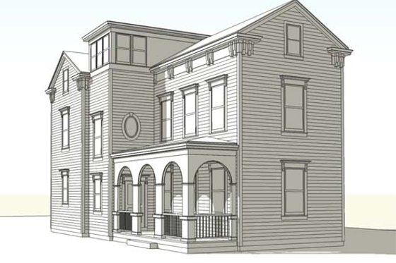 Colonial Exterior - Front Elevation Plan #477-4