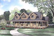 Log Style House Plan - 3 Beds 2.5 Baths 2580 Sq/Ft Plan #17-489 Exterior - Front Elevation