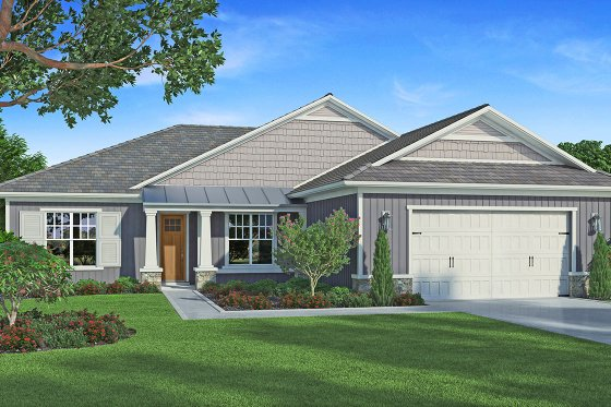 Craftsman Exterior - Front Elevation Plan #938-95