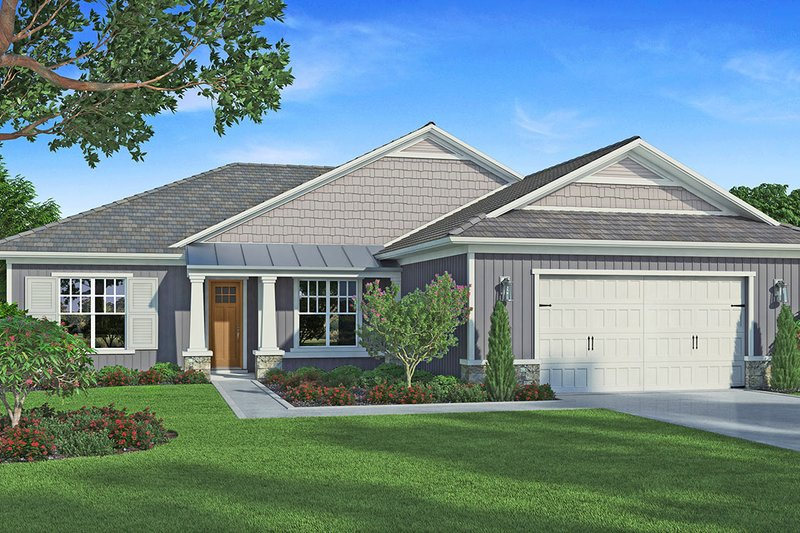 Craftsman Style House Plan - 3 Beds 2.5 Baths 1920 Sq/Ft Plan #938-95 Exterior - Front Elevation