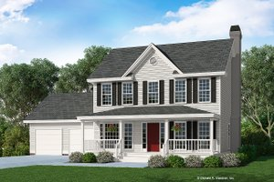 Country Exterior - Front Elevation Plan #929-373