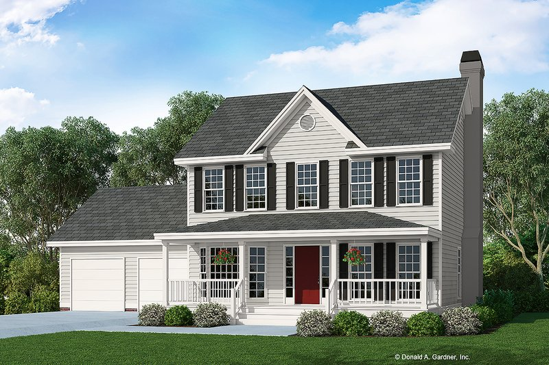 Architectural House Design - Country Exterior - Front Elevation Plan #929-373