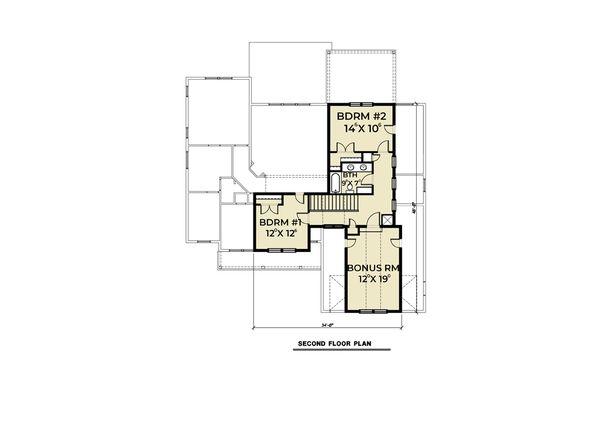 Craftsman Floor Plan - Upper Floor Plan #1070-70
