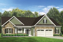 Ranch Exterior - Front Elevation Plan #1010-139