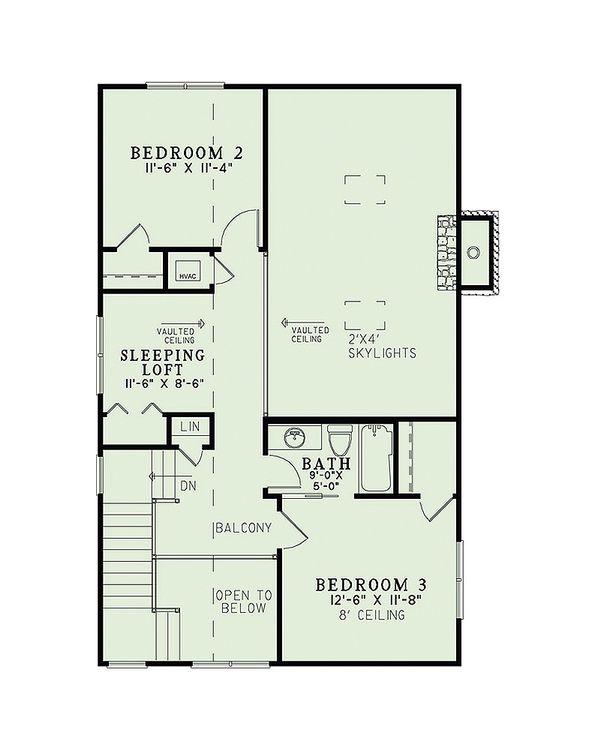 Country Floor Plan - Upper Floor Plan Plan #17-2434