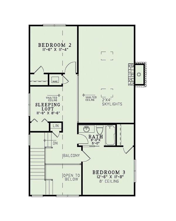 Country Floor Plan - Upper Floor Plan #17-2434