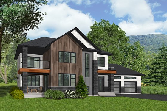 Modern Exterior - Front Elevation Plan #23-2309