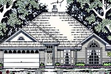 Country Exterior - Front Elevation Plan #42-660