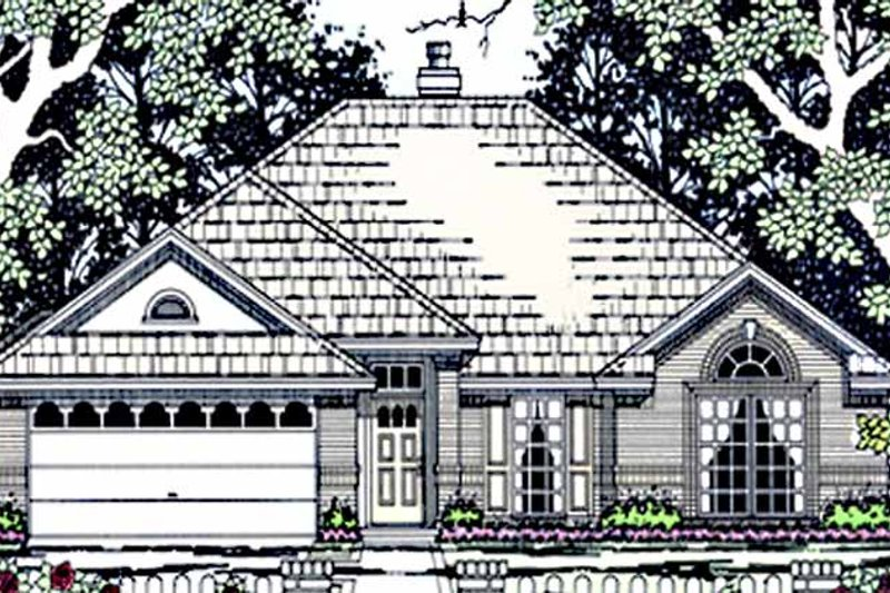 House Plan Design - Country Exterior - Front Elevation Plan #42-660