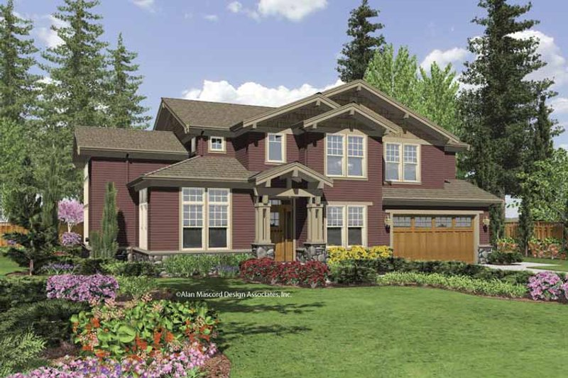 House Plan Design - Craftsman Exterior - Front Elevation Plan #48-852