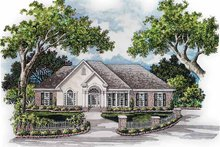 House Plan Design - Mediterranean Exterior - Front Elevation Plan #952-239