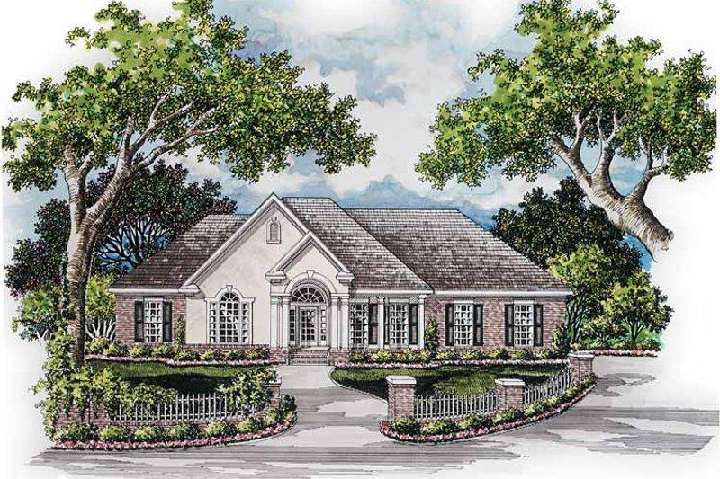 Dream House Plan - Mediterranean Exterior - Front Elevation Plan #952-239