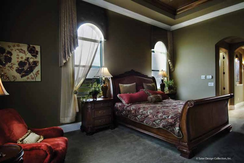 Mediterranean Interior - Master Bedroom Plan #930-428 - Houseplans.com