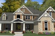 Craftsman Style House Plan - 5 Beds 3 Baths 4425 Sq/Ft Plan #63-392 Exterior - Front Elevation