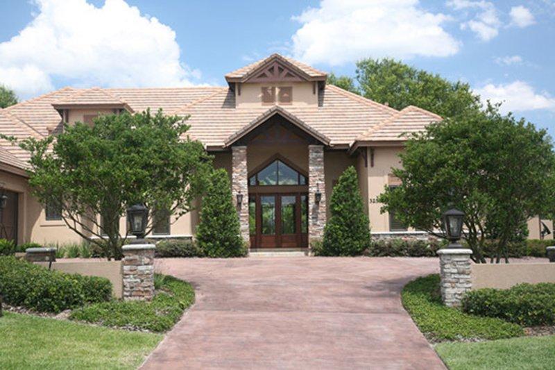 Contemporary Exterior - Front Elevation Plan #417-814 - Houseplans.com